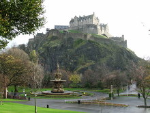 Edinburgh, The Castle Viewed from Princes Street Gardens, © Thomas Nugent